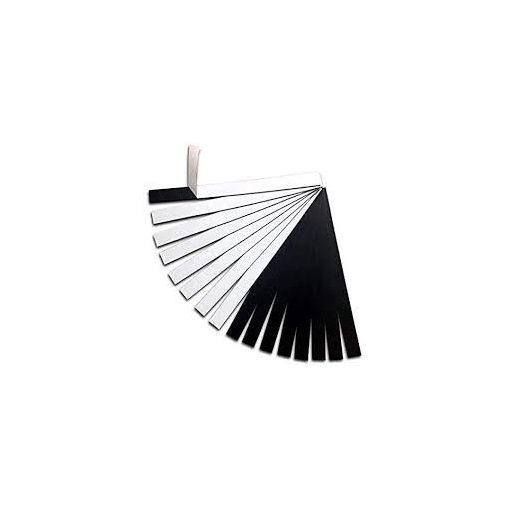Folie magnetică cu adeziv 10 cm x 1.5 cm grosime 0.4 mm 1000 buc.
