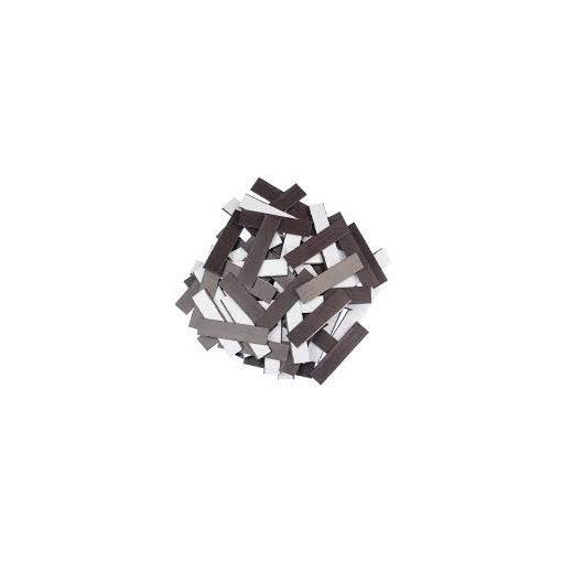 Folie magnetică cu adeziv 5 cm x 1.5 cm grosime 0.4 mm, 1000 buc.