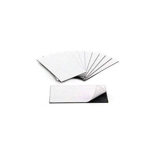 Folie magnetică cu adeziv 40 mm x 30 mm 100 bucăți grosime 0.50 mm
