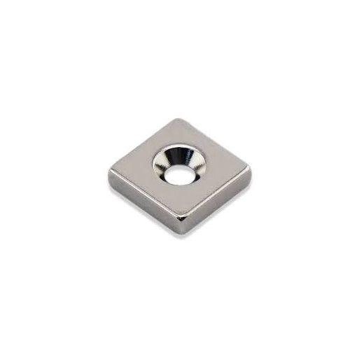Magnet Neodim bloc  20x20x5 mm N35 cu orificiu